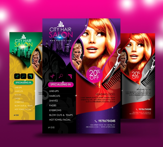 Free Hair Salon Flyer Template