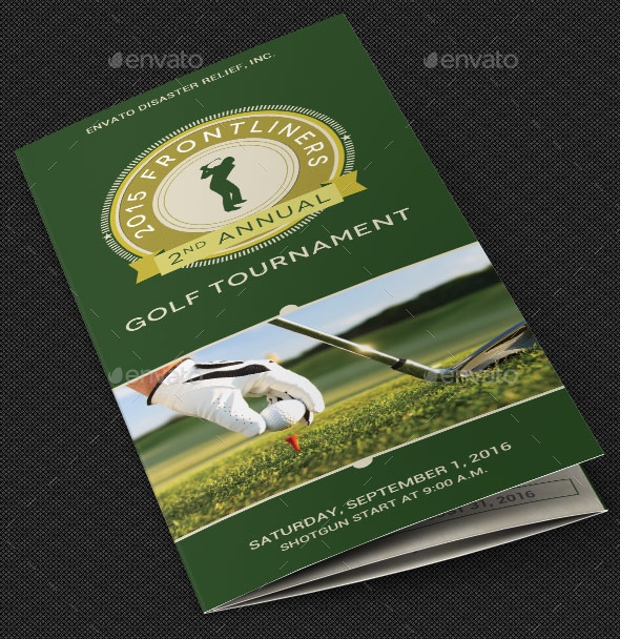 charity golf tournament brochure
