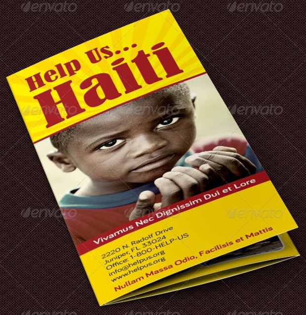 charity organization brochure