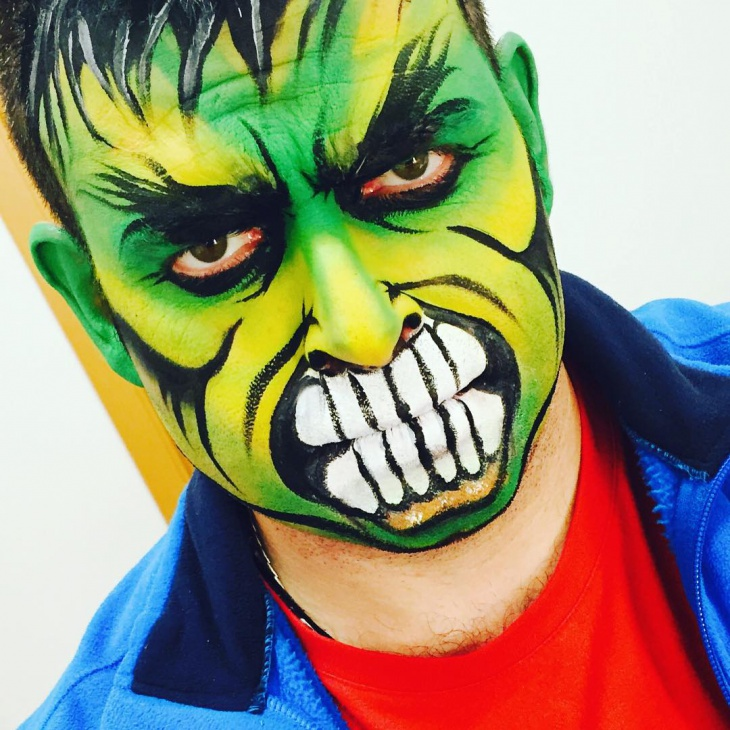 Incredible Hulk Makeup Idea