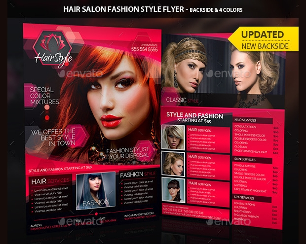 Hair Salon Fashion Style Flyer