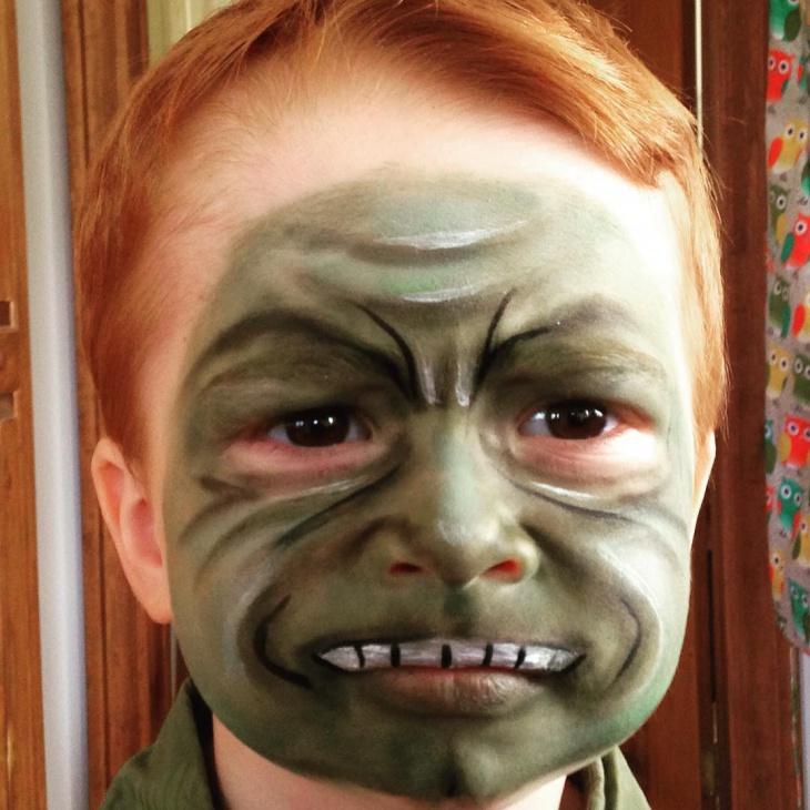 Hulk Makeup for Kids
