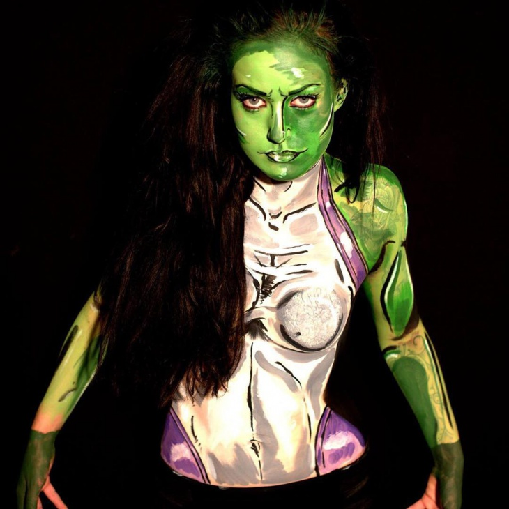 Hulk Body Makeup Idea