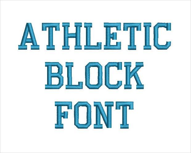 athletic block font