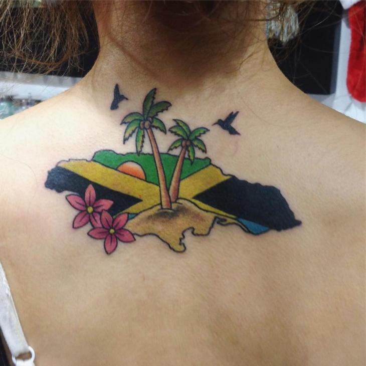 natural palm tree tattoo