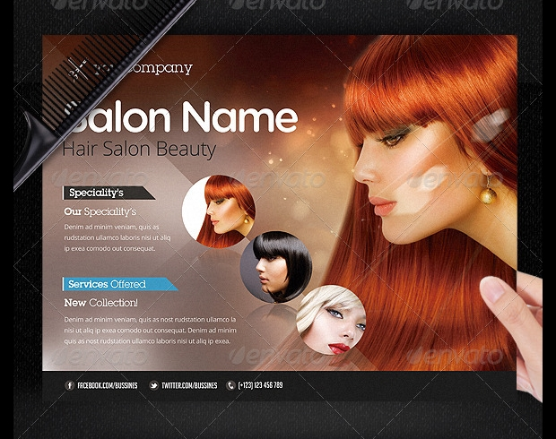 Hair Salon Advertisement Flyer