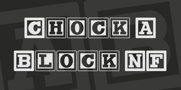 chock block nf font