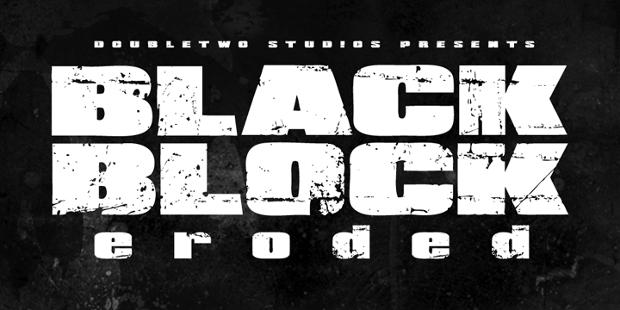block web font