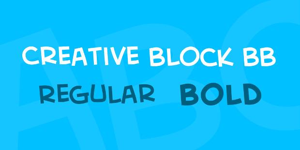 creative block bold font