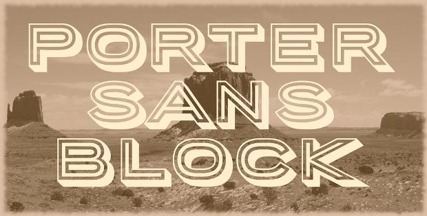 sans type block font