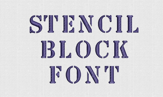 stencil block font