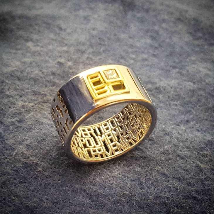 Gold Message Ring Design