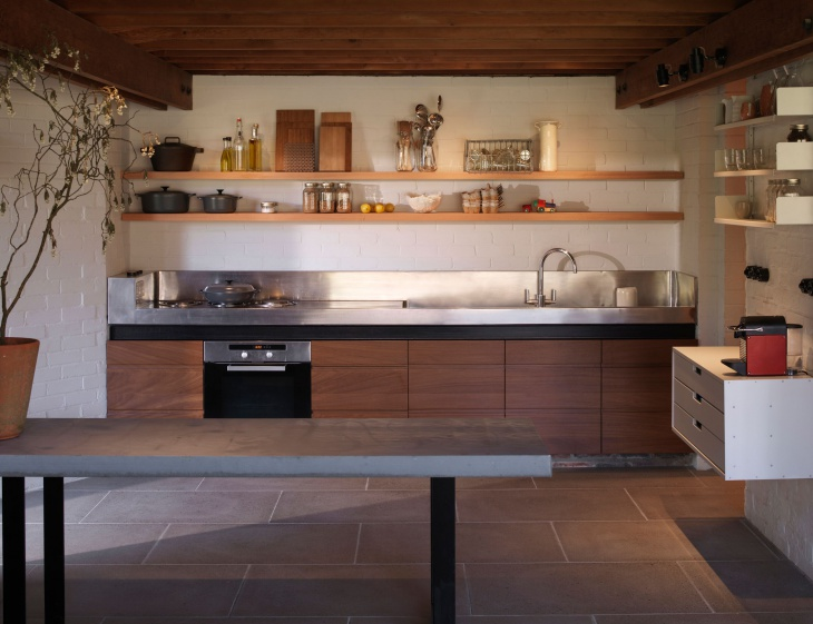 spacious open kitchen