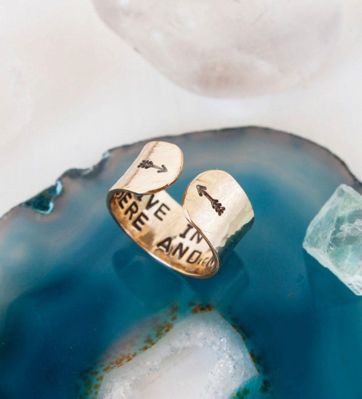 Gold Hidden Message Ring Design