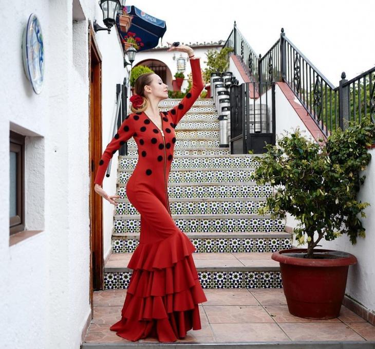 traditional flamenco dress