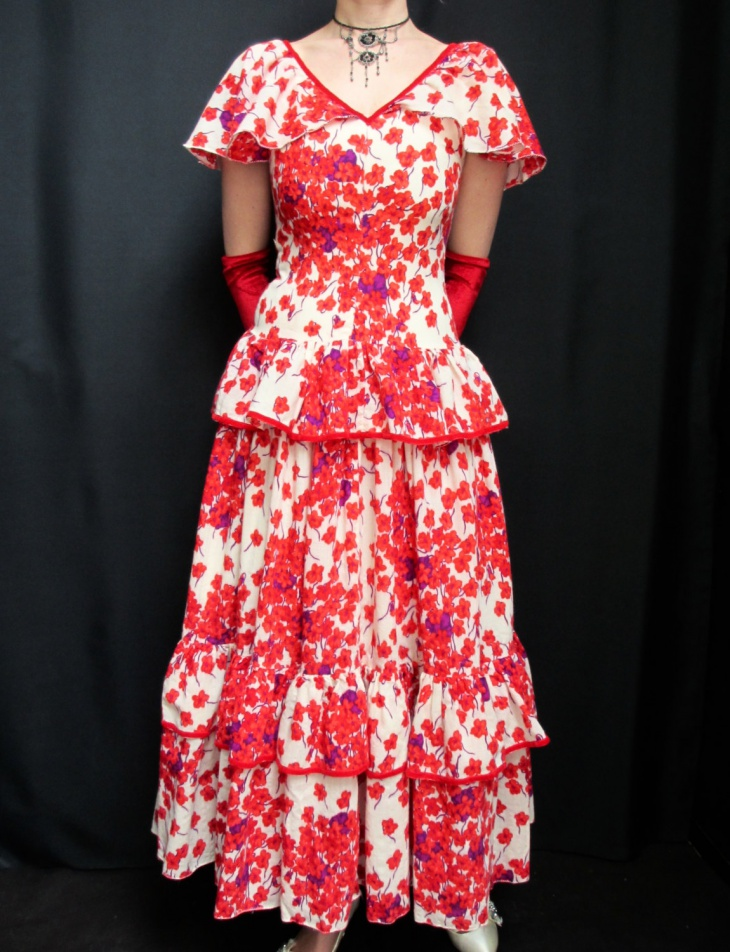 vintage flamenco dress