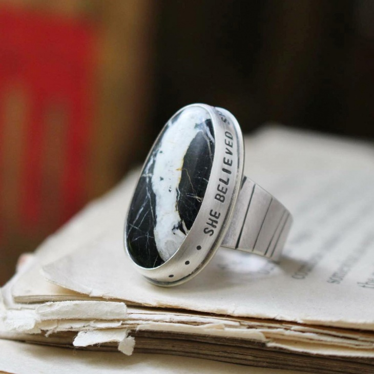 Bohemian Message Ring