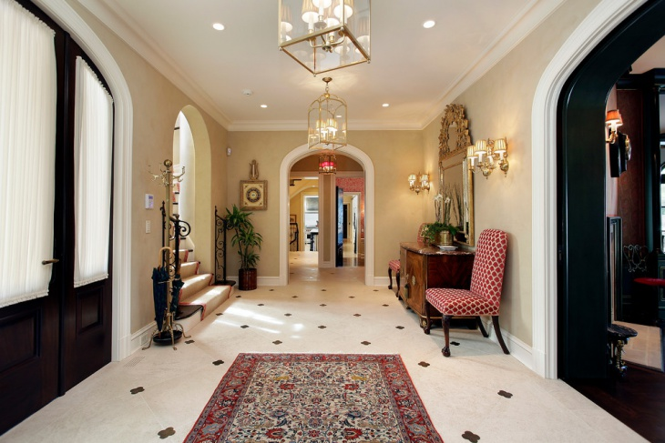 villa entrance interior design