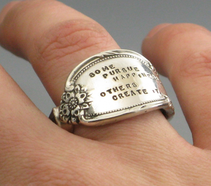 Silver Plated Message Ring