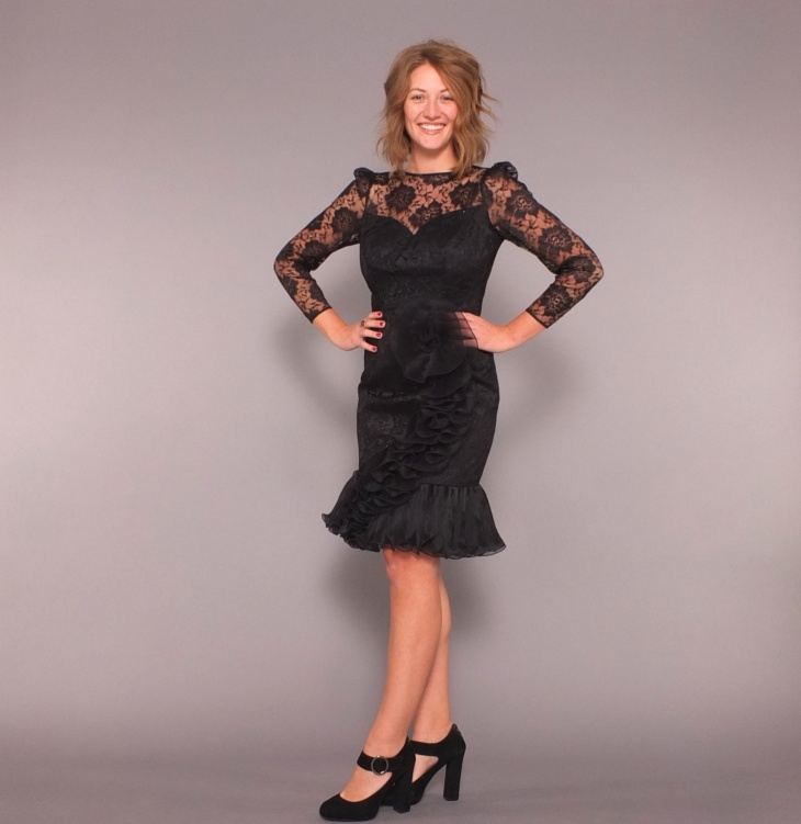 lace flamenco dress