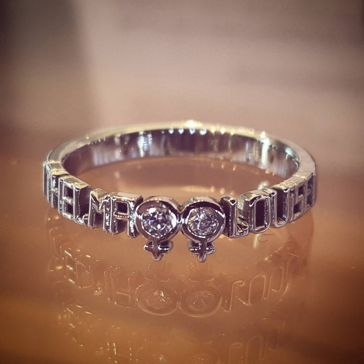 Pretty Message Wedding Band