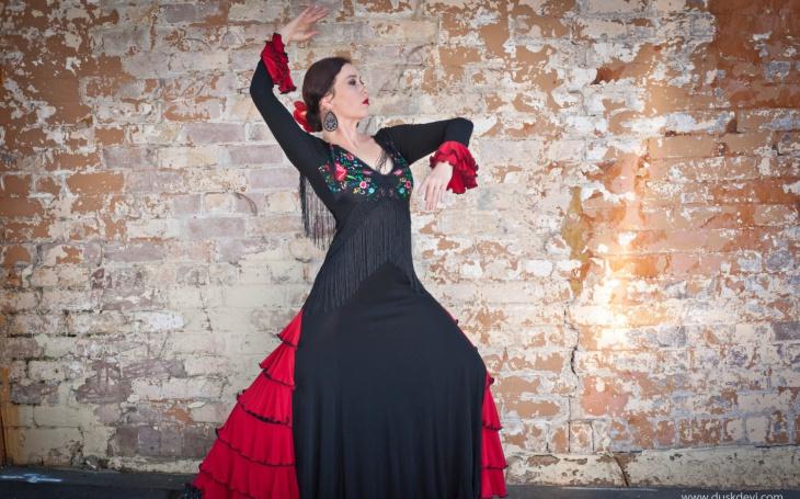 black blanca flamenco dress
