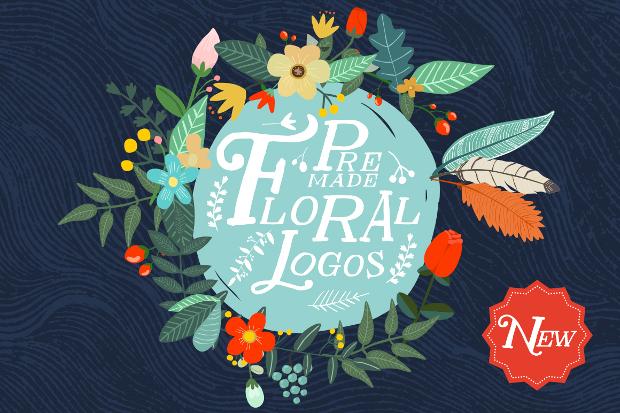 premade floral logo design