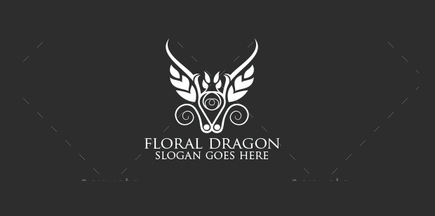 Floral Dragon Logo