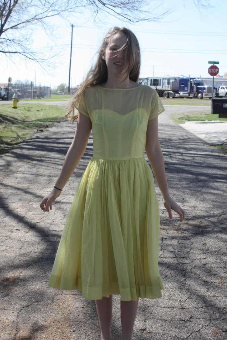 Yellow Illusion Dress