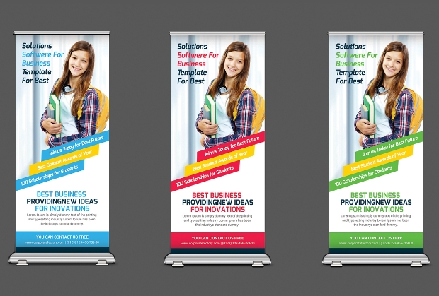 School Promotion Rollup Banners