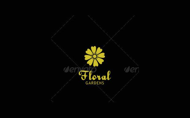floral garden logo