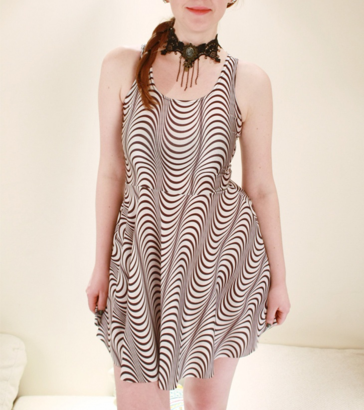 Black and White Illusion Dress