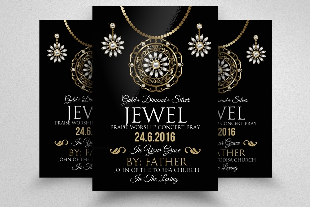 Jewelry Flyer Templates  Printable Psd Ai Vector Eps Format
