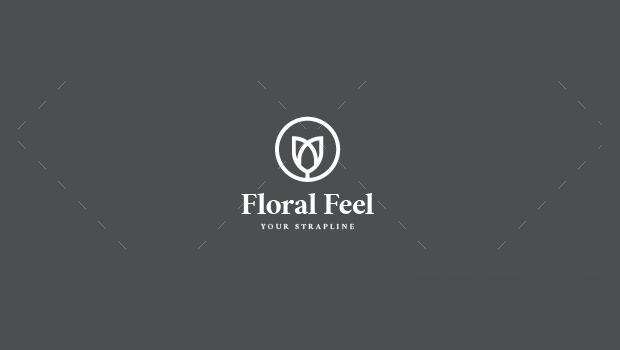 floral feel logo design