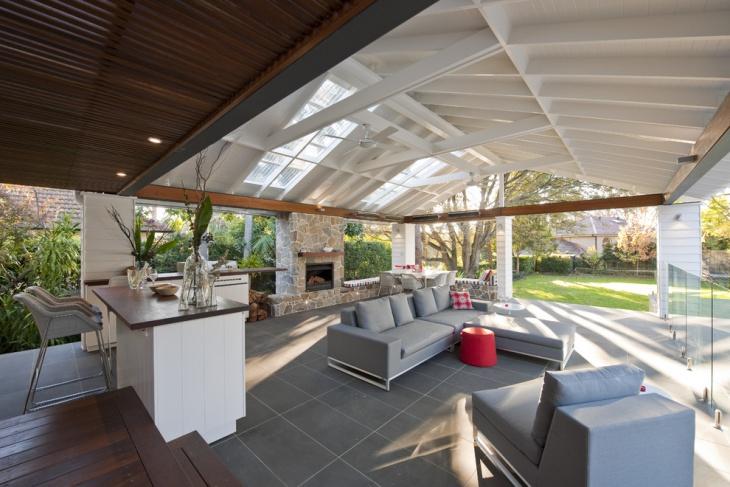 outdoor sunroom flooring idea
