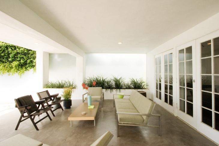 open sunroom flooring idea