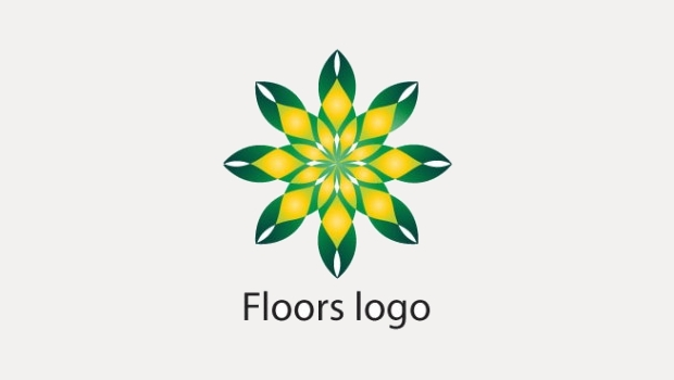 Yellow and Green Floral Logo