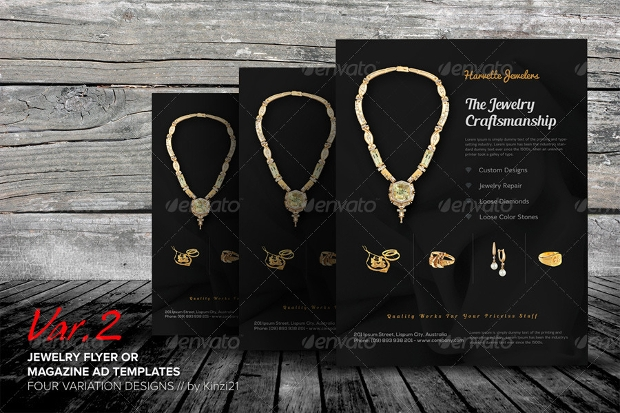 Jewelry Advertisement Flyer Template