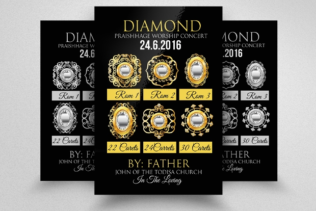 Diamond Jewelry Business Flyer