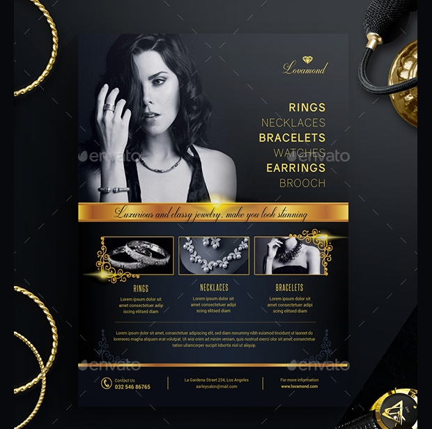 Luxury Jewelry Store Flyer