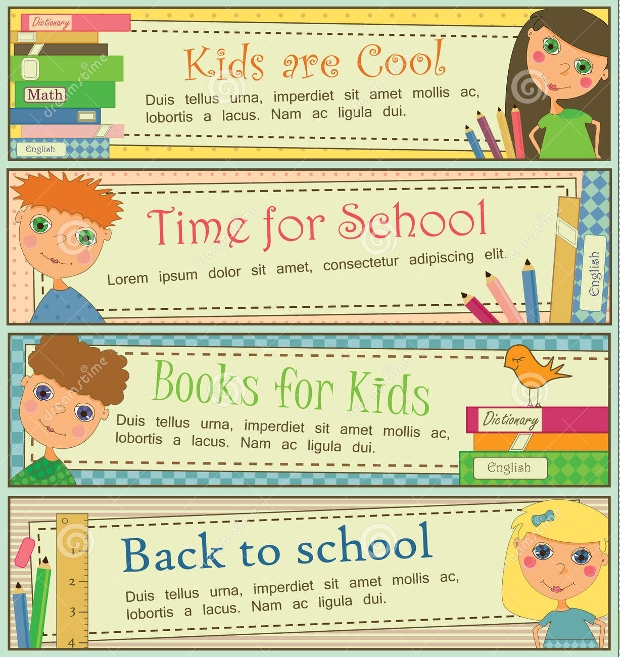 Kids School Banners