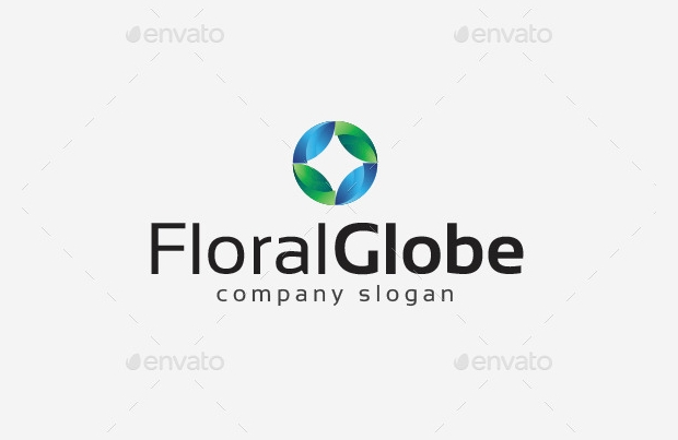 floral globe logo