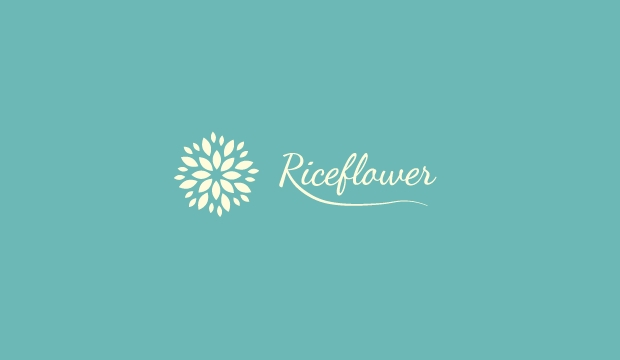 Rice Flower Logo Design