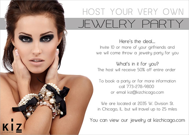 Jewelry Party Flyer