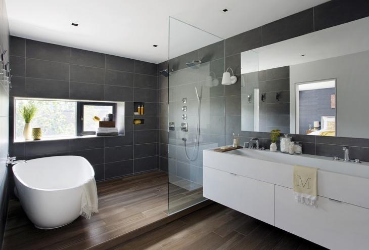 wall shower bathroom idea