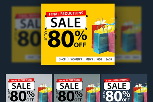 big sale web banners