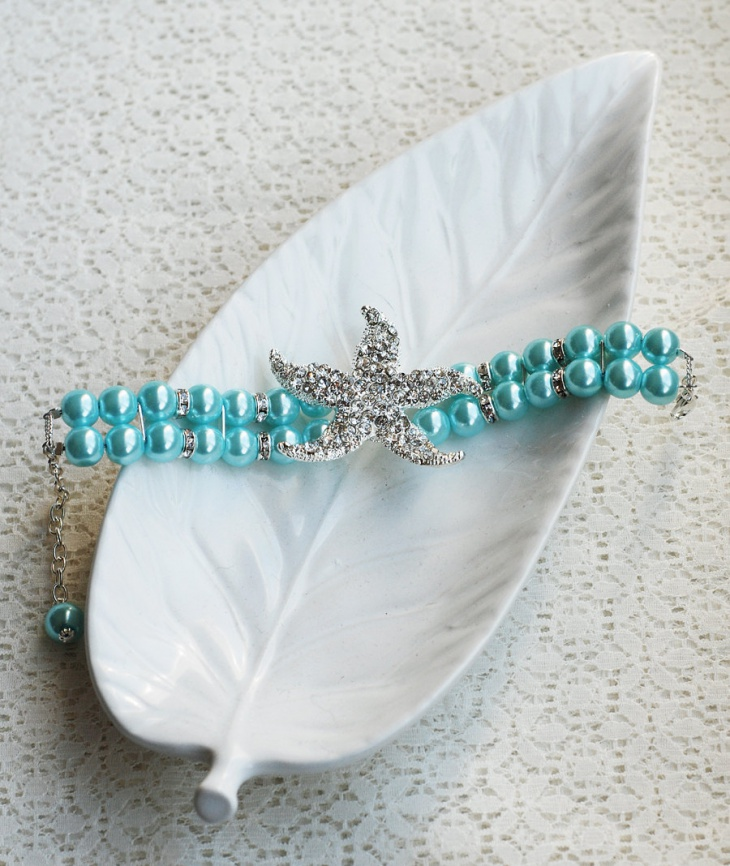 crystal turquoise bracelet