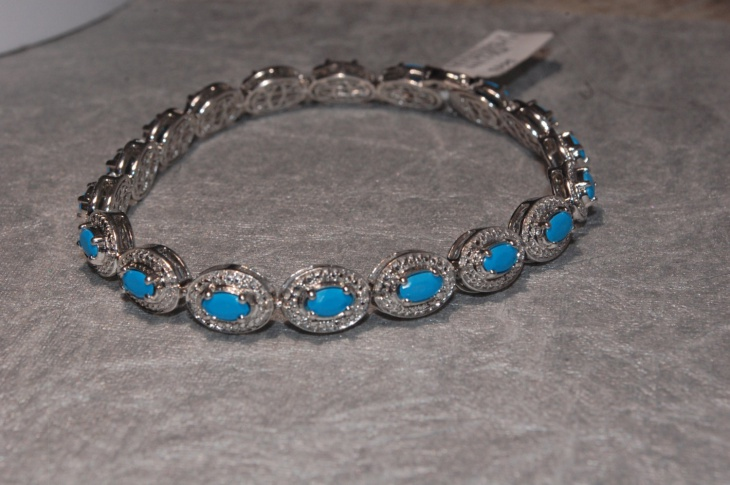 diamond turquoise bracelet