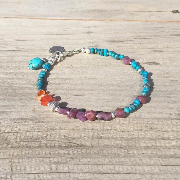 ruby turquoise bracelet