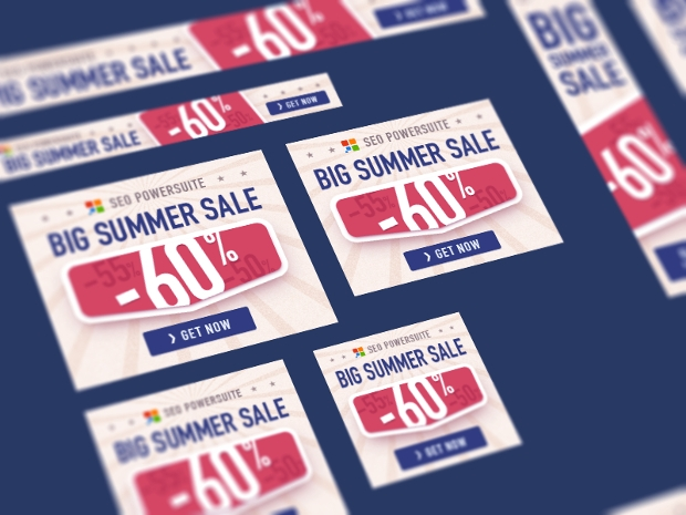 big summer sale banners